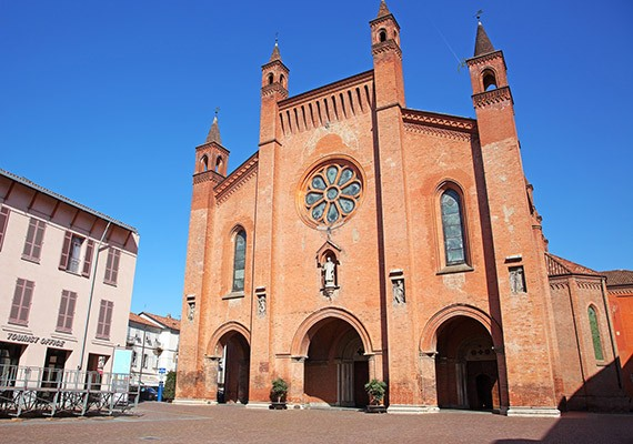 Alba, Cuneo, Italy. Duomo of San Lorenzo (Cathedral)